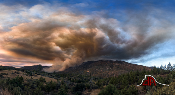 Willow Fire Panorama