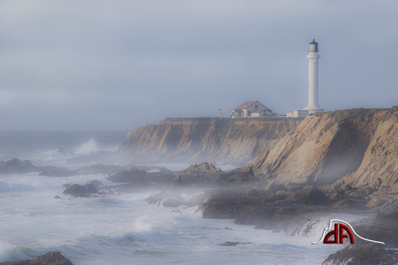 Misty Afternoon at the Lighthouse - Point Arena Lighthouse