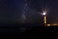 Across the Universe - Pigeon Point Lighthouse & Milky Way